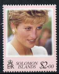 Solomon Islands 1998 Diana, Princess of Wales commemoration $2 unmounted mint, SG 907