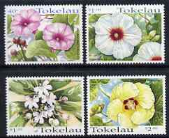 Tokelau 1998 Tropical Flowers set of 4 unmounted mint, SG 283-86