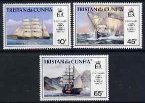Tristan da Cunha 1992 Cent of Wreck of Barque Italia perf set of 3 unmounted mint, SG 535-37