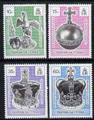 Tristan da Cunha 1993 40th Anniversary of Coronations set of 4 unmounted mint, SG 542-45
