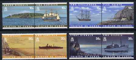 Tristan da Cunha 1997 Visual Communications perf set of 8 (4 se-tenant pairs) unmounted mint, SG 611-18
