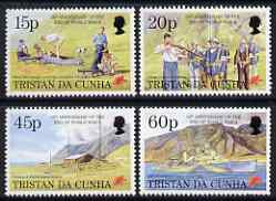 Tristan da Cunha 1995 50th Anniversary or End of Second World War set of 4 unmounted mint, SG 580-83