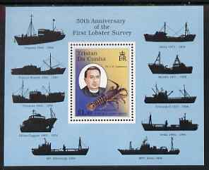 Tristan da Cunha 1998 50th Anniversary of First Lobster Survey m/sheet unmounted mint, SG MS636
