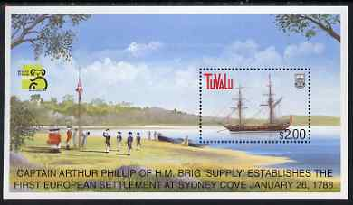 Tuvalu 1999 Australia 99 World Stamp Exhibition - Ships (6th Series) m/sheet unmounted mint, SG MS836