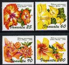 Vanuatu 1996 Hibiscus Flowers (3rd issue) set of 4 unmounted mint, SG 736-39