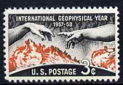 United States 1958 International Geophysical Year 3c unmounted mint, SG 1106