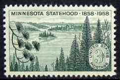 United States 1958 Centenary of Statehood of Minnesota unmounted mint, SG 1105
