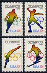 United States 1976 Olympics Games (Innsbruck & Montreal) set of 4 unmounted mint, SG 1672-75