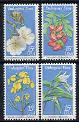 United States 1979 Endangered Flora (Persistent Trillium, Hawaiian Wild Broadbean, Contra Costa Wallflower, Antioch Dunes Evening Primrose) set of 4 unmounted mint, SG 1758-61
