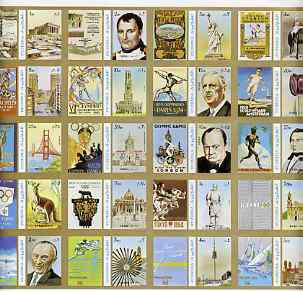 Fujeira 1972 Olympics Games - People & Places imperf set of 20 unmounted mint, Mi 1040-59B