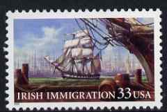 United States 1998 Irish Immigration 33c unmounted mint, SG3570