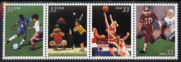 United States 2000 Youth Team Sports se-tenant strip of 4 unmounted mint, SG 3787a