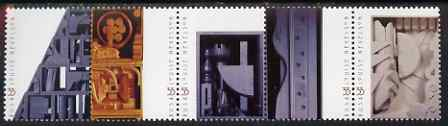 United States 2000 Birth Centenary of Louise Nevelson (Sculptress) se-tenant strip of 5 unmounted mint, SG 3753a