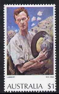 Australia 1974 Sergeant of Light Horse by G Lambert $1 from Australian Paintings set, unmounted mint SG 565