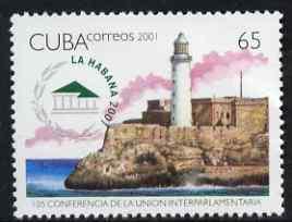 Cuba 2001 Inter-Parliamentary Union (Lighthouse) unmounted mint, SG 4480