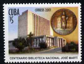 Cuba 2001 Centenary of Jose Marti Library unmounted mint, SG 4517