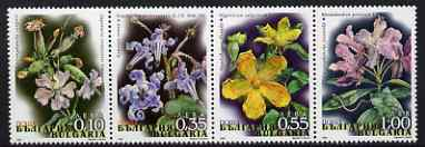 Bulgaria 2006 Flora perf se-tenant strip of 4 unmounted mint, SG 4590-3