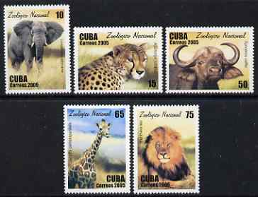 Cuba 2005 National Zoo perf set of 5 unmounted mint SG 4856-60