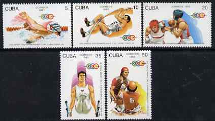 Cuba 1993 Central American & Caribbean Games perf set of 5 unmounted mint SG 3856-60