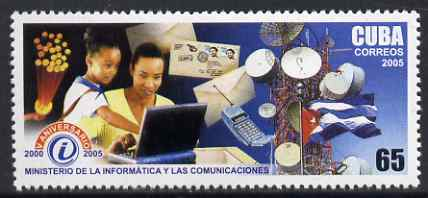 Cuba 2005 Fifth Anniversary of Ministry of Information & Communications 65c unmounted mint SG 4804