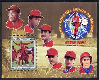 Cuba 2003 Baseball World Cup Championship perf m/sheet unmounted mint SG MS 4704