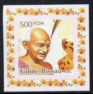 Guinea - Bissau 2006 Mahatma Gandhi #1 individual imperf deluxe sheet unmounted mint. Note this item is privately produced and is offered purely on its thematic appeal