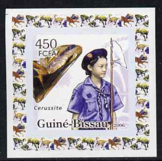 Guinea - Bissau 2006 Scouts & Minerals #2 individual imperf deluxe sheet unmounted mint. Note this item is privately produced and is offered purely on its thematic appeal