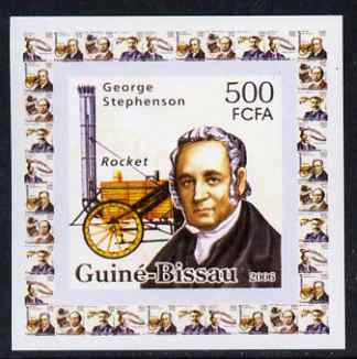 Guinea - Bissau 2006 Great Inventors #1 - George Stephenson & Rocket individual imperf deluxe sheet unmounted mint. Note this item is privately produced and is offered pu...