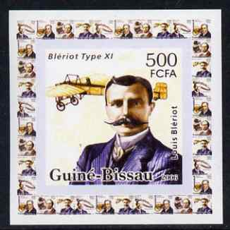 Guinea - Bissau 2006 Great Inventors #4 - Louis Bleriot & Type XI plane individual imperf deluxe sheet unmounted mint. Note this item is privately produced and is offered purely on its thematic appeal