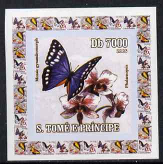 St Thomas & Prince Islands 2006 Orchids & Butterflies #3 individual imperf deluxe sheet unmounted mint. Note this item is privately produced and is offered purely on its thematic appeal