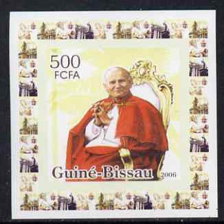 Guinea - Bissau 2006 The Pope #1 individual imperf deluxe sheet unmounted mint. Note this item is privately produced and is offered purely on its thematic appeal