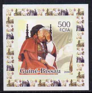 Guinea - Bissau 2006 The Pope #4 individual imperf deluxe sheet unmounted mint. Note this item is privately produced and is offered purely on its thematic appeal