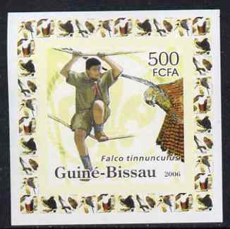 Guinea - Bissau 2006 Scouts & Birds of Prey #1 individual imperf deluxe sheet unmounted mint. Note this item is privately produced and is offered purely on its thematic appeal