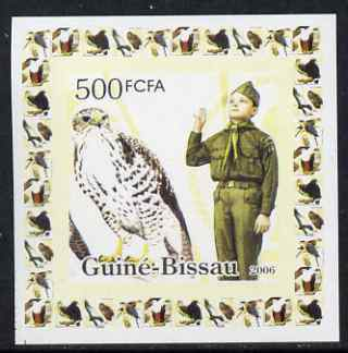 Guinea - Bissau 2006 Scouts & Birds of Prey #2 individual imperf deluxe sheet unmounted mint. Note this item is privately produced and is offered purely on its thematic appeal