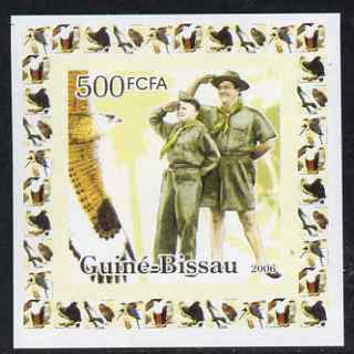 Guinea - Bissau 2006 Scouts & Birds of Prey #3 individual imperf deluxe sheet unmounted mint. Note this item is privately produced and is offered purely on its thematic appeal