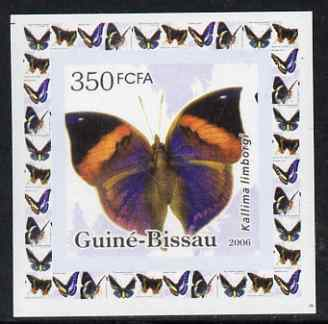 Guinea - Bissau 2006 Butterflies #2 - Kallima limborgi individual imperf deluxe sheet unmounted mint. Note this item is privately produced and is offered purely on its thematic appeal