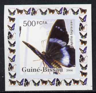 Guinea - Bissau 2006 Butterflies #3 - Papilio laglaizei individual imperf deluxe sheet unmounted mint. Note this item is privately produced and is offered purely on its thematic appeal