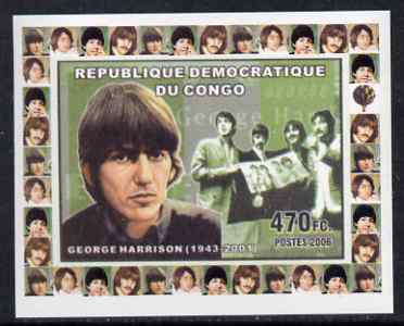 Congo 2006 Beatles #2 - George Harrison individual imperf deluxe sheet unmounted mint. Note this item is privately produced and is offered purely on its thematic appeal