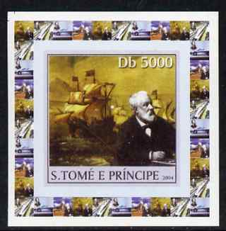 St Thomas & Prince Islands 2004 Jules Verne #2 - With Tall Ships individual imperf deluxe sheet unmounted mint. Note this item is privately produced and is offered purely on its thematic appeal
