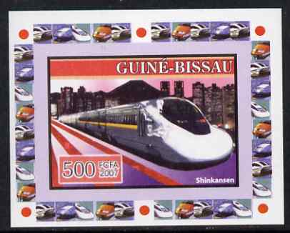 Guinea - Bissau 2007 High Speed Trains #1 - Shinkansen individual imperf deluxe sheet unmounted mint