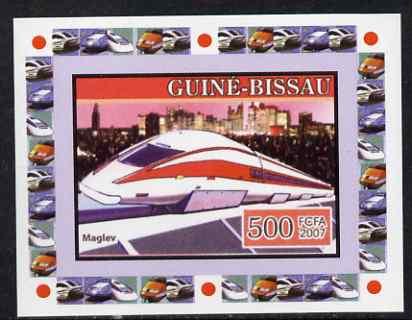 Guinea - Bissau 2007 High Speed Trains #3 - Maglev individual imperf deluxe sheet unmounted mint