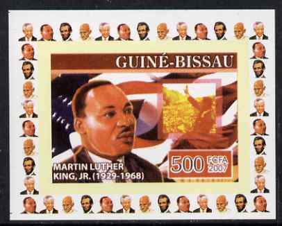 Guinea - Bissau 2007 Humanitarians #3 - Martin Luther King individual imperf deluxe sheet unmounted mint. Note this item is privately produced and is offered purely on its thematic appeal, stamps on personalities, stamps on human rights, stamps on peace, stamps on nobel, stamps on racism
