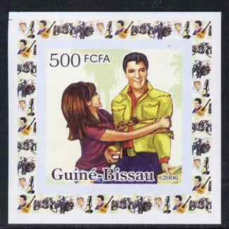 Guinea - Bissau 2006 Elvis Presley #1 - Tied up with a girl individual imperf deluxe sheet unmounted mint. Note this item is privately produced and is offered purely on its thematic appeal