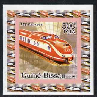 Guinea - Bissau 2006 High Speed Trains #3 - TEE Express individual imperf deluxe sheet unmounted mint. Note this item is privately produced and is offered purely on its thematic appeal