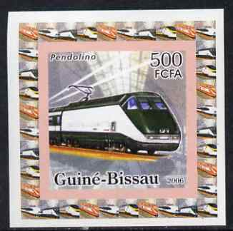 Guinea - Bissau 2006 High Speed Trains #4 - Pendolino individual imperf deluxe sheet unmounted mint. Note this item is privately produced and is offered purely on its thematic appeal