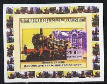Guinea - Conakry 2006 Steam Trains - French North Region individual imperf deluxe sheet unmounted mint. Note this item is privately produced and is offered purely on its thematic appeal