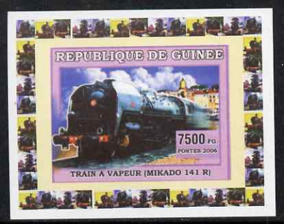 Guinea - Conakry 2006 Steam Trains - Mikado individual imperf deluxe sheet unmounted mint. Note this item is privately produced and is offered purely on its thematic appeal
