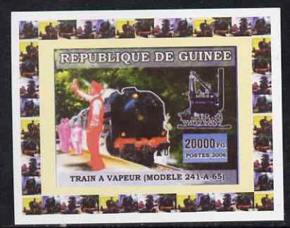 Guinea - Conakry 2006 Steam Trains - Modele 241-A-65 individual imperf deluxe sheet unmounted mint. Note this item is privately produced and is offered purely on its thematic appeal