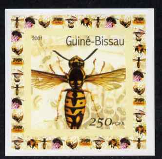 Guinea - Bissau 2001 Bees #1 individual imperf deluxe sheet unmounted mint. Note this item is privately produced and is offered purely on its thematic appeal