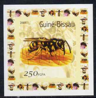 Guinea - Bissau 2001 Bees #2 individual imperf deluxe sheet unmounted mint. Note this item is privately produced and is offered purely on its thematic appeal
